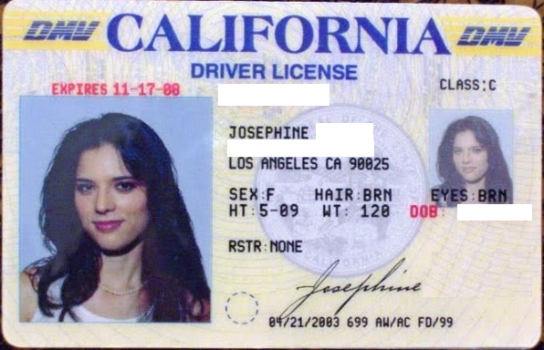 California Driver License Restriction 50